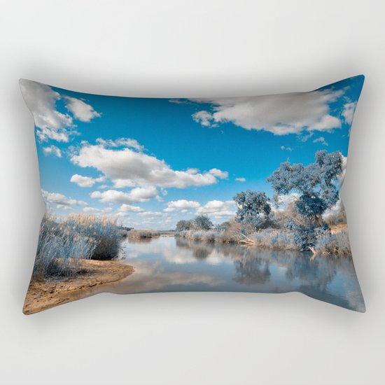 Kruger Park Landscape - Winter Blue Rectangular Pillow