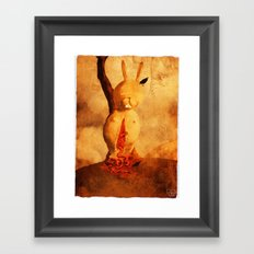 Man dies of cold, not of darkness. Framed Art Print