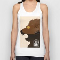 simba Tank Tops featuring The Lion King by Rowan Stocks-Moore