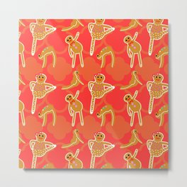 Gingerbread Yoga Metal Print
