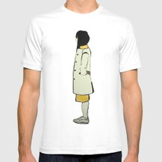 The Coat MEDIUM White Mens Fitted Tee