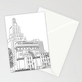 Washington Square Park in New York, NY Stationery Cards