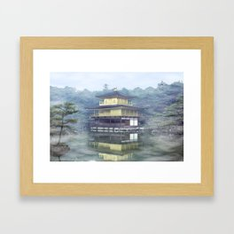Mist on the Golden Pavilion Framed Art Print