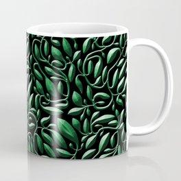Dark Green Leaf Weave Coffee Mug