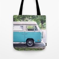 vw Tote Bags featuring VW by myhideaway