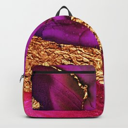 Glitter Gold Milky Way Across Pink Sunset Abstract Backpack