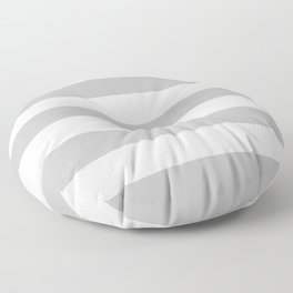 Silver - solid color - white stripes pattern Floor Pillow