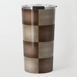Abstract Earth Tones Travel Mug