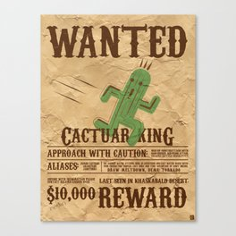 Wanted: The Cactuar King Canvas Print