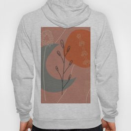 Abstract Floral: Moon & Sun Floral Hoody