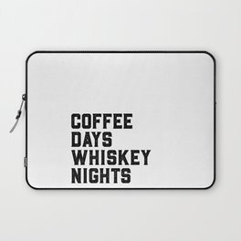 BAR WALL DECOR, Coffee Days Whiskey Nights,Coffee Sign,Bar Decor,Party Gift,Whiskey Gift,Drink Sign, Laptop Sleeve