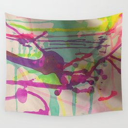 Water Color Frenzy Wall Tapestry