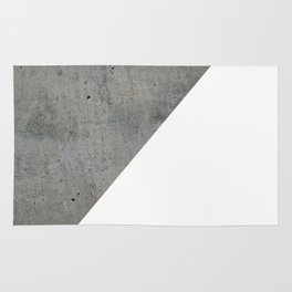 Concrete Vs White Rug