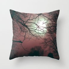 Day Moon Throw Pillow