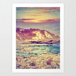 Sunset at Yuke Art Print