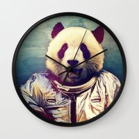 contemporary Wall Clocks featuring The Greatest Adventure by rubbishmonkey