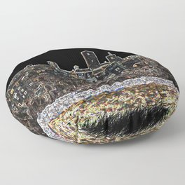 Small ancient city Floor Pillow