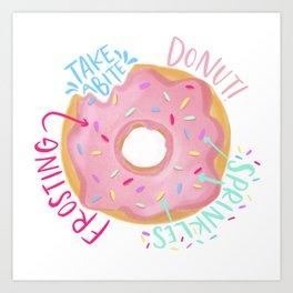 Donut Diagram Art Print