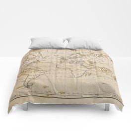 World Map 1844 Comforters