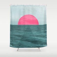 Magenta Sunset Shower Curtain
