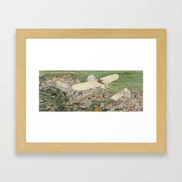 Beaumont the winner in Bleriot monoplane, Gnome engine, Bosch magneto Framed Art Print