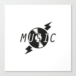 Vinyl Music 2 Canvas Print