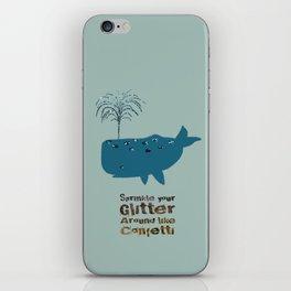 Glitter Whale iPhone Skin