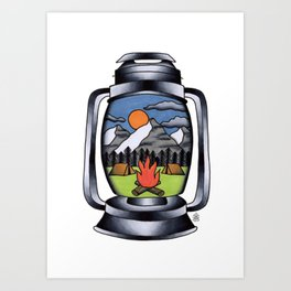 Lantern Tattoo Art Print