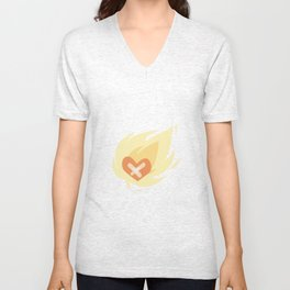 Burning wounded heart Unisex V-Neck