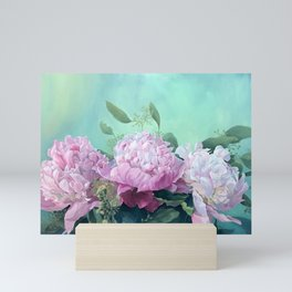 Pink Peonies The Three Sisters Floral Mini Art Print