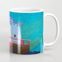 lighthouse Mugs featuring Lighthouse by Judy Palkimas