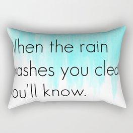 Ombre - Blue - Dreams by Fleetwood Mac Rectangular Pillow