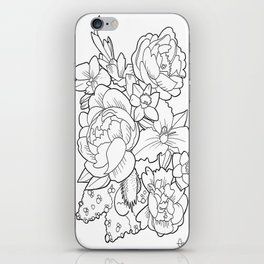 Floral Collage iPhone Skin