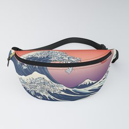 The Great Wave of Maltese Fanny Pack