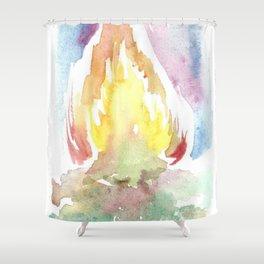 The Bonfire Shower Curtain