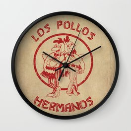 Los Pollos Hermanos vintage ( Breaking Bad ) Wall Clock