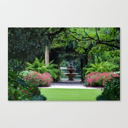 Focal Point In The Garden Canvas Print