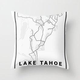 Lake Tahoe Light City Map Throw Pillow