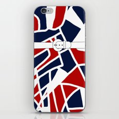 Red White & Blue iPhone & iPod Skin