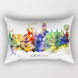 Cracow skyline color Rectangular Pillow