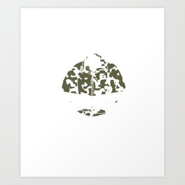 Hunter Women Hunting Hunt Wil Animals Husband Design Art Print