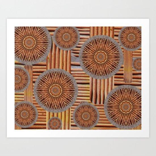 Roots pattern Art Print