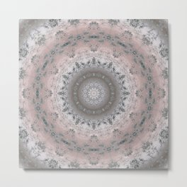 Grey-pink kaleidoscope Metal Print