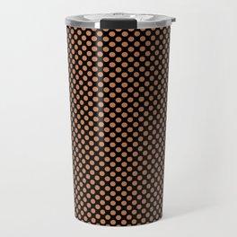 Black and Caramel Polka Dots Travel Mug
