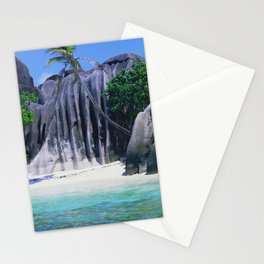 Exotic Palau Islands With Massive Rock Tropical Beaches Stationery Cards