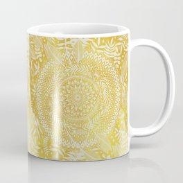 Medallion Pattern in Mustard and Cream Coffee Mug
