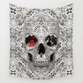 Lace Skull Light Wall Tapestry
