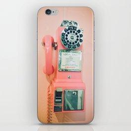 Pink Vintage Telephone iPhone Skin