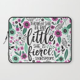 Little and Fierce Laptop Sleeve