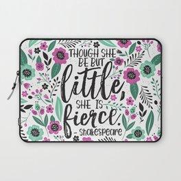 Little and Fierce Laptop Sleeve